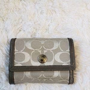 Coach Signature Wallet Grey/Silver
